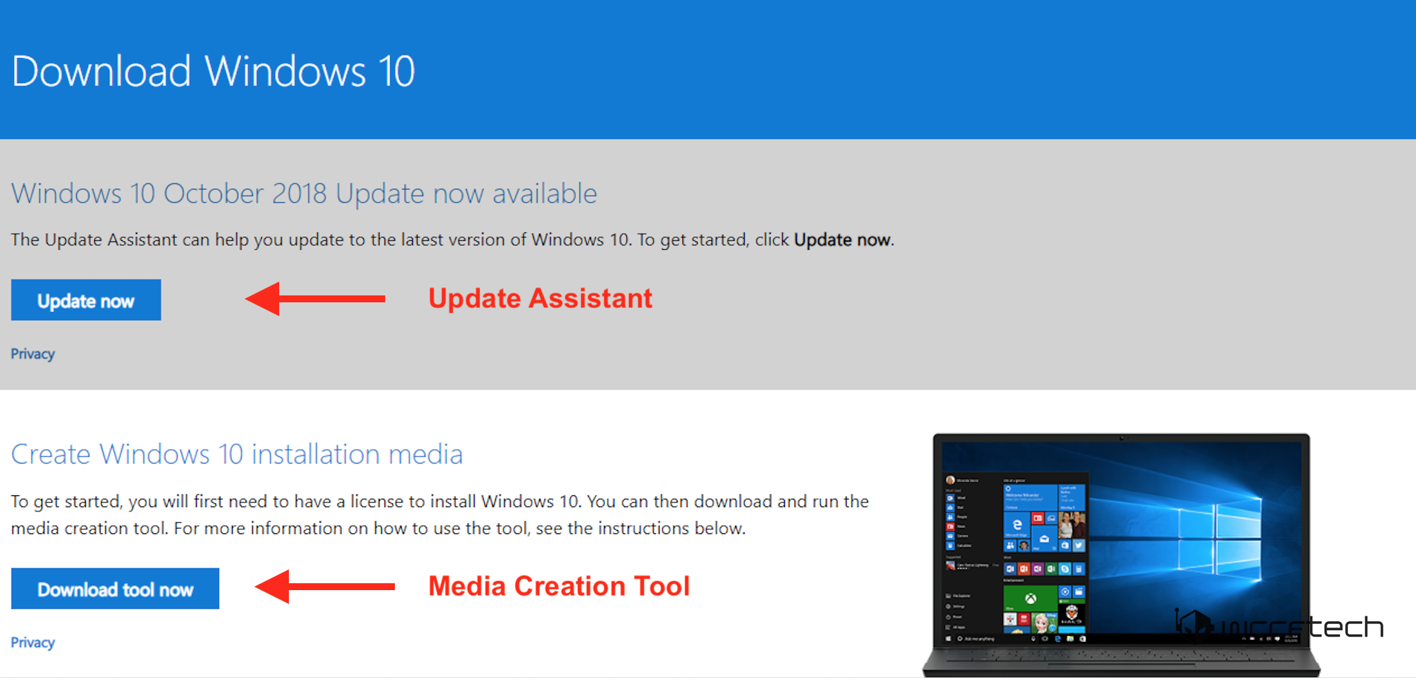 clean install windows 10 update assistant