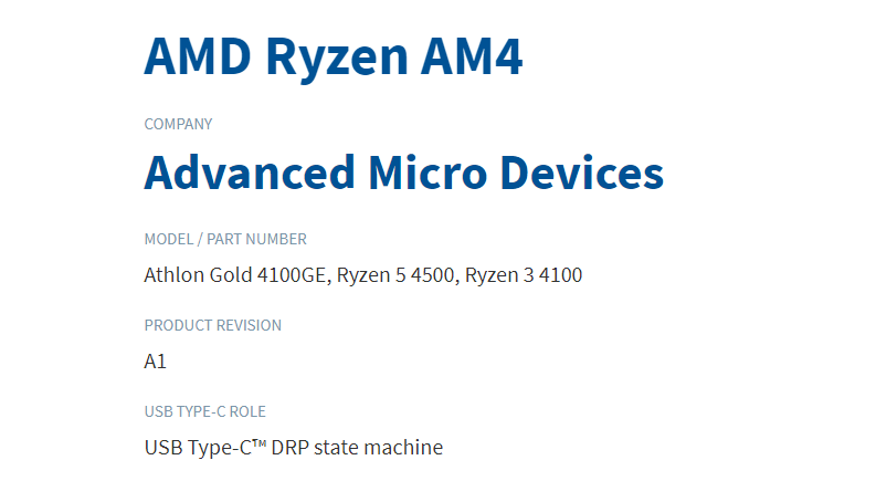 AMD Ryzen & Athlon Desktop CPUs based around the Zen 2 core architecture have been spotted on USB-IF database.